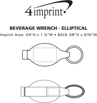 Imprint Area of Beverage Wrench - Elliptical