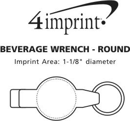 Imprint Area of Beverage Wrench - Round