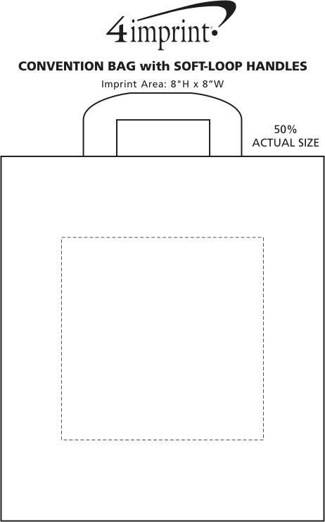 """Imprint Area of Convention Bag with Soft-Loop Handles - 18"""" x 16"""""""