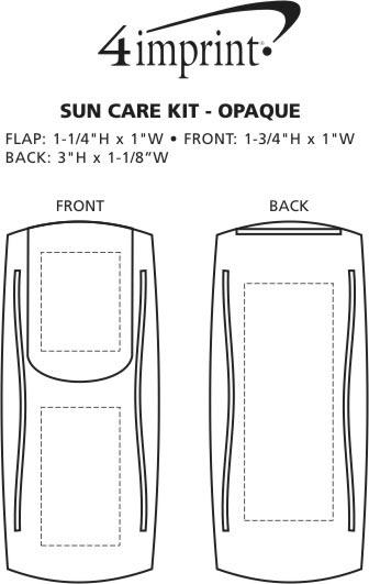 Imprint Area of Sun Care Kit - Opaque