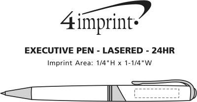 Imprint Area of Executive Metal Pen - Laser Engraved - 24 hr
