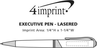 Imprint Area of Executive Metal Pen - Laser Engraved