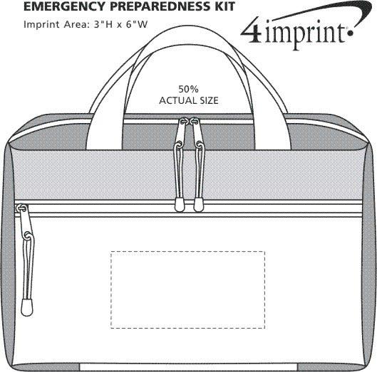 Imprint Area of Emergency Preparedness Kit