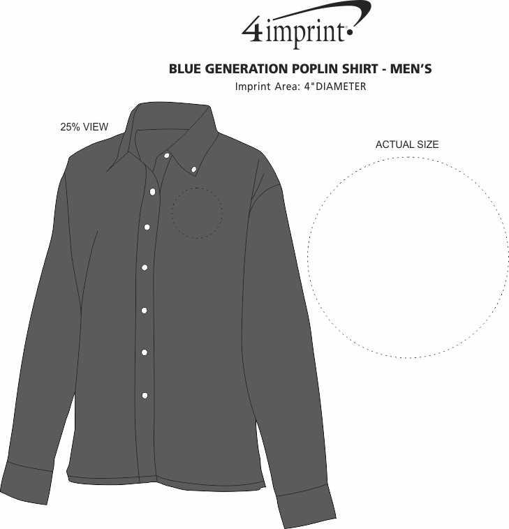 Imprint Area of Easy-Care Poplin Shirt - Men's
