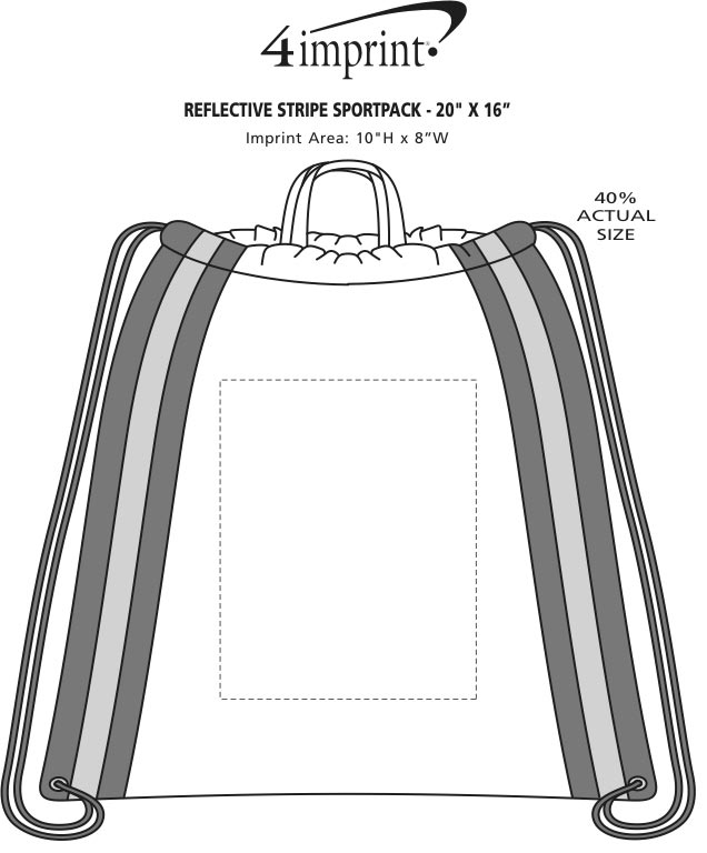 "Imprint Area of Reflective Stripe Sportpack - 20"" x 16"""