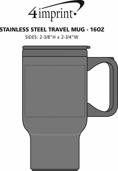 Imprint Area of Stainless Steel Travel Mug - 16 oz.
