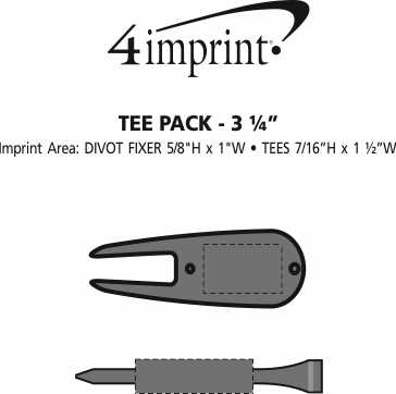 """Imprint Area of Tee Pack - 3-1/4"""""""