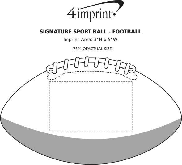 Imprint Area of Signature Sport Ball - Football