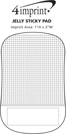 Imprint Area of Jelly Sticky Pad