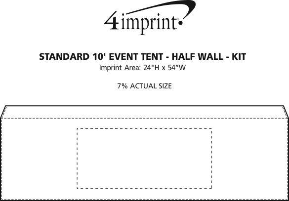 Imprint Area of Standard 10' Event Tent - Half Wall - Kit