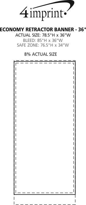 "Imprint Area of Economy Retractor Banner Display - 36"""