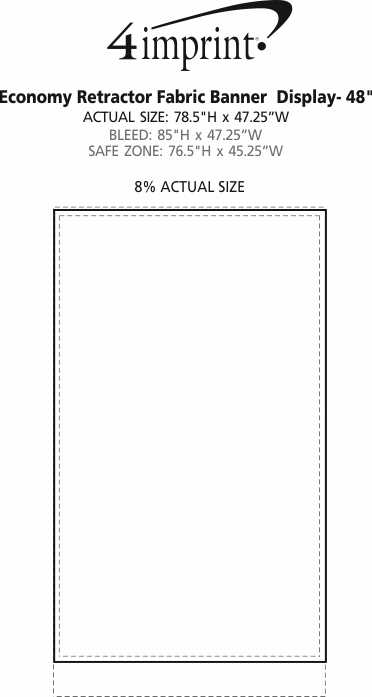 "Imprint Area of Economy Retractor Fabric Banner Display - 47-1/4"""