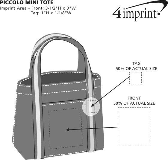Imprint Area of Piccolo Mini Tote - Screen