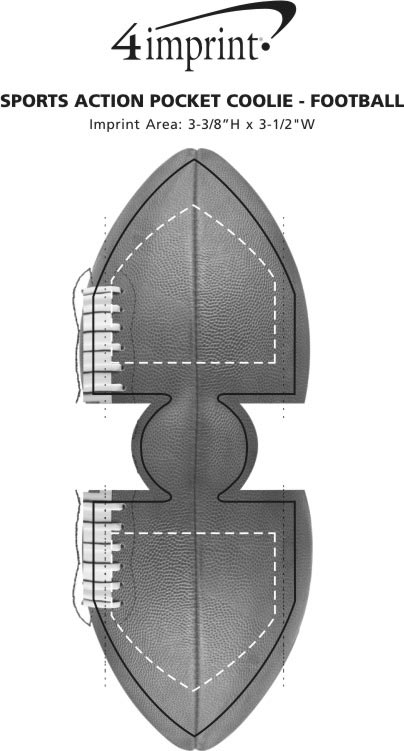 Imprint Area of Sports Action Pocket Coolie - Football