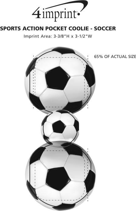 Imprint Area of Sports Action Pocket Coolie - Soccer