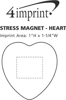 Imprint Area of Stress Magnet - Heart