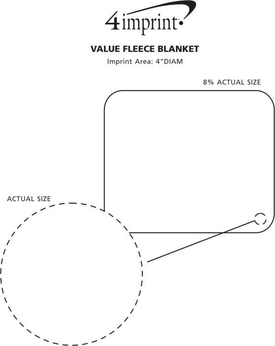 Imprint Area of Fairhaven Fleece Blanket