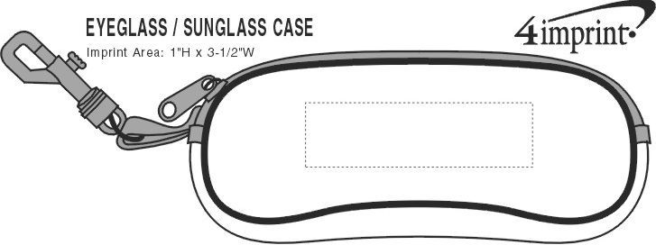 Imprint Area of Eyeglasses/Sunglasses Case