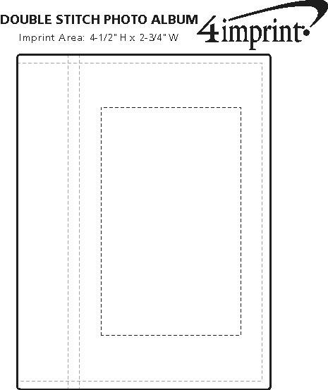 Imprint Area of Double Stitch Photo Album