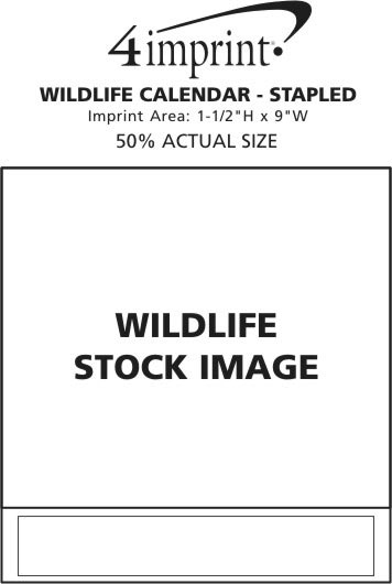 Imprint Area of Wildlife Calendar - Stapled