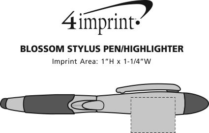 Imprint Area of Blossom Stylus Pen/Highlighter