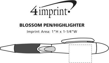 Imprint Area of Blossom Pen/Highlighter