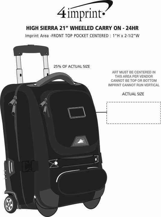 "Imprint Area of High Sierra 21"" Wheeled Carry-On"