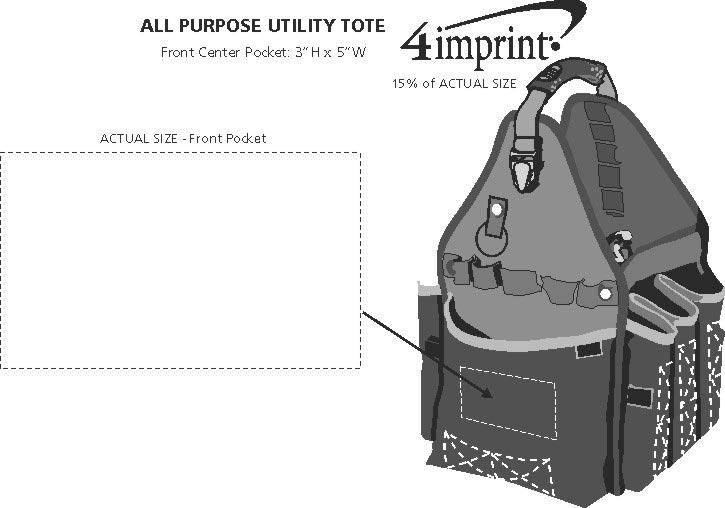 Imprint Area of All Purpose Utility Tote