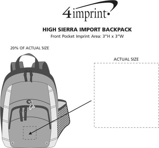 Imprint Area of High Sierra Impact Backpack