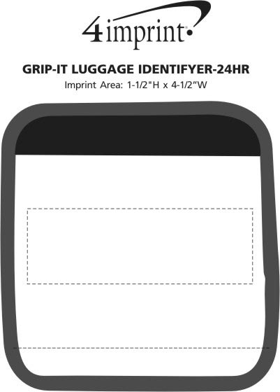 Imprint Area of Grip-It Luggage Identifier - 24 hr
