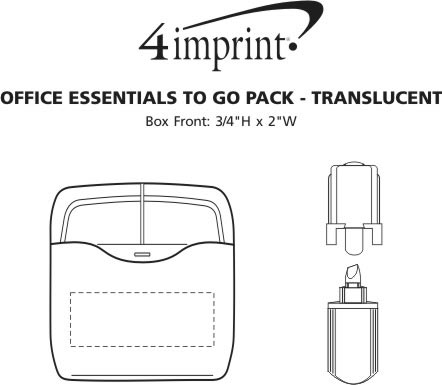 Imprint Area of Office Essentials To Go Pack