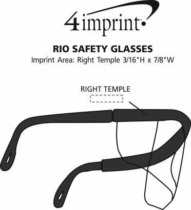 Imprint Area of Integra Safety Glasses