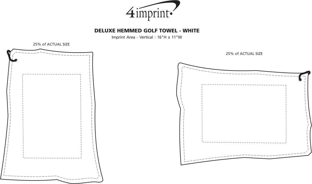 Imprint Area of Deluxe Hemmed Golf Towel - White