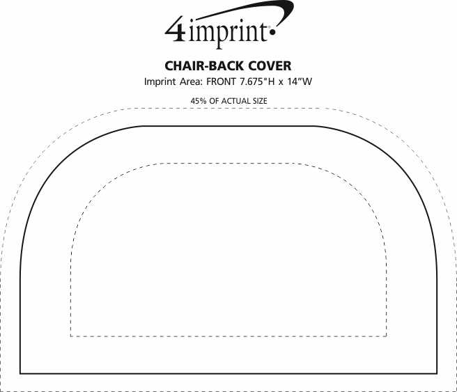 Imprint Area of Chair-Back Cover