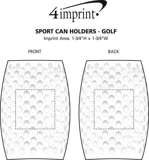 Imprint Area of Sport Can Holder - Golf Ball