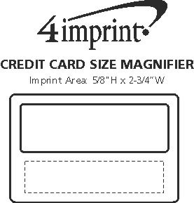 Imprint Area of Credit Card Size Magnifier