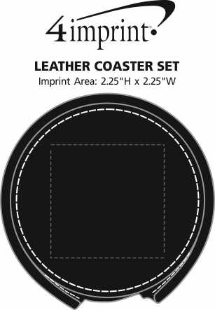 Imprint Area of Leather Coaster Set