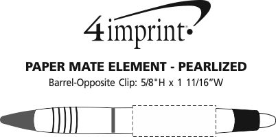 Imprint Area of Paper Mate Element Pen - Pearlized