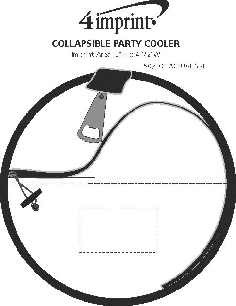 Imprint Area of Collapsible Party Cooler