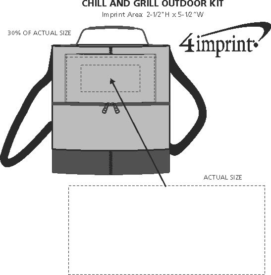Imprint Area of Chill and Grill Outdoor Kit