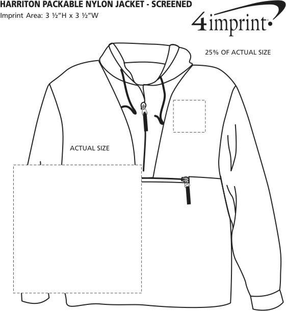 Imprint Area of Harriton Packable Nylon Jacket - Screen