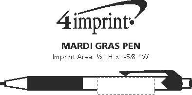 Imprint Area of Mardi Gras Pen