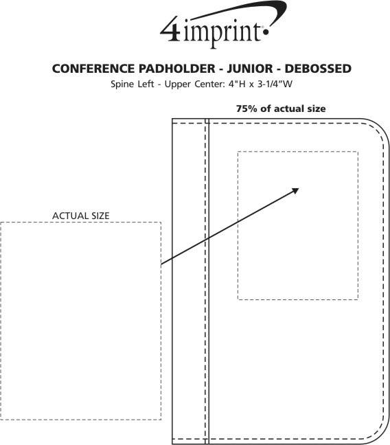 Imprint Area of Conference Padholder - Junior - Debossed