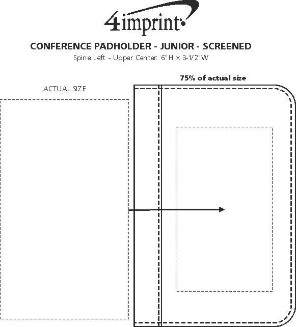 Imprint Area of Conference Padholder - Junior - Screen