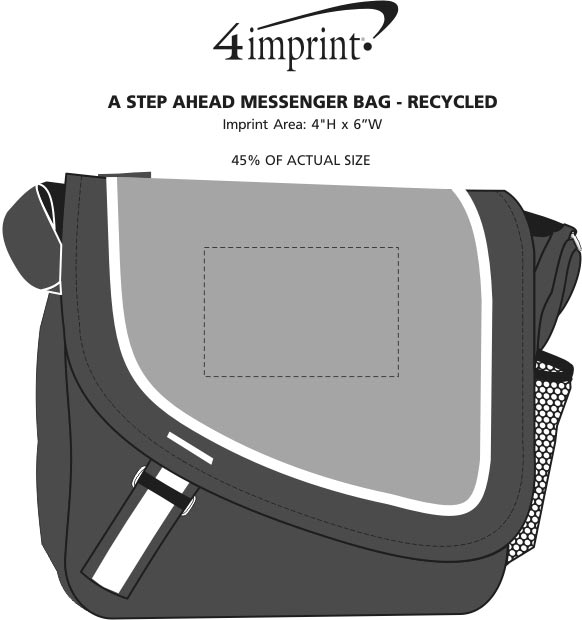 Imprint Area of A Step Ahead Messenger Bag - Recycled