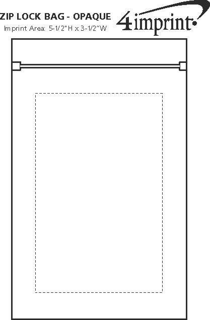 Imprint Area of Zip-Lock Bag - Opaque