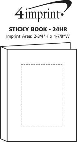 Imprint Area of Sticky Book - 24 hr