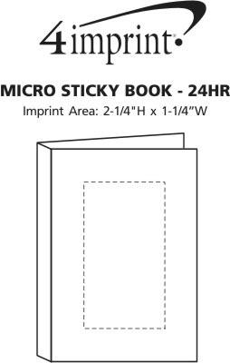 Imprint Area of Micro Sticky Book - 24 hr