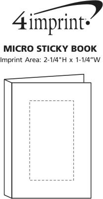 Imprint Area of Micro Sticky Book