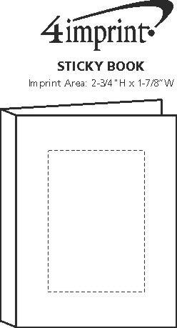 Imprint Area of Sticky Book